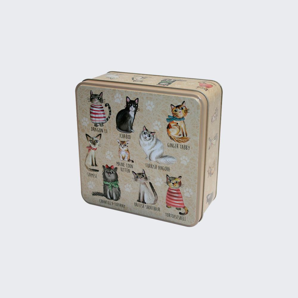Caja de galletas deco gatos