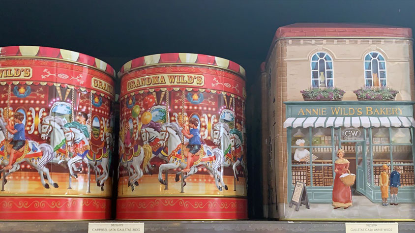 Cajas de galletas inglesas