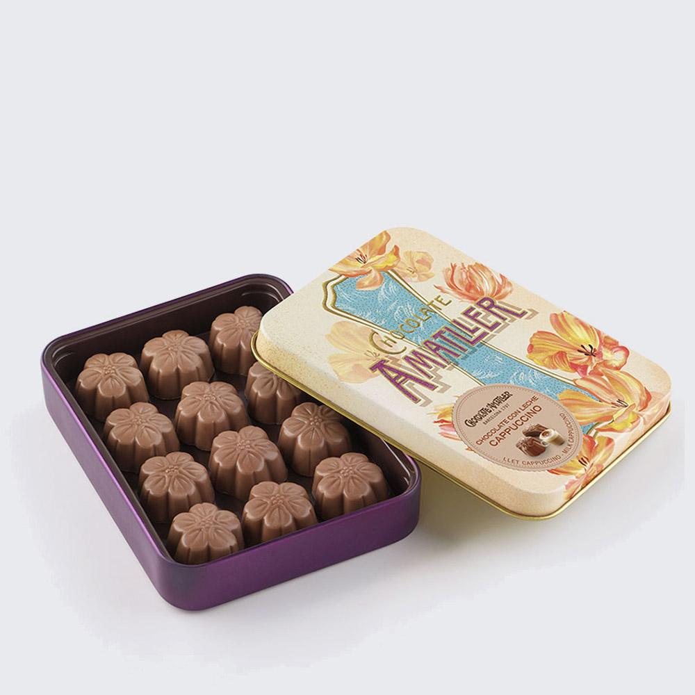 Flores chocolat e capuccino