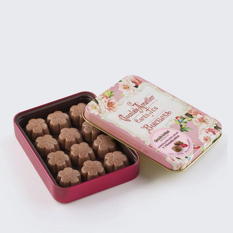 Chocolate con frambuesa